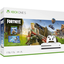 White Xbox One S 1TB + Fortnite and Fortnite Eon Cosmetics Bundle & 2,000 V-bucks von Amazon DE zum €249.99