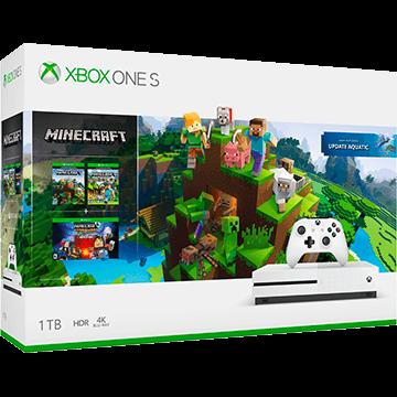 Xbox One S + Minecraft Story Mode: The Complete Adventure + Minecraft Explorer's Pack für nur €249.00