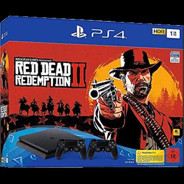 PS4 Slim + Red Dead Redemption 2 + PS4 Dualshock 4 Controller: Black für nur €379.00