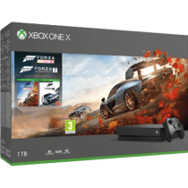 Black Xbox One 1TB + Forza Horizon 4 and Forza Motorsport 7 von Amazon DE zum €399.00