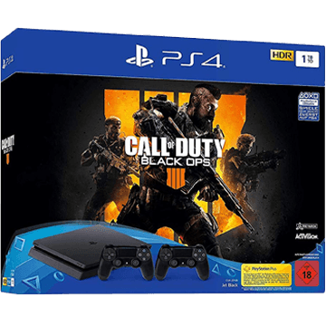 PS4 Slim + Call Of Duty: Black Ops 4 + PS4 Dualshock 4 Controller: Black für nur €379.00