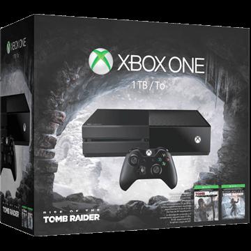 Xbox One Standard + Rise of the Tomb Raider + Tomb Raider: Definitive Edition für nur €299.00