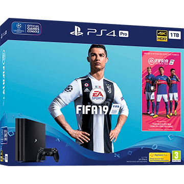 PS4 Pro + FIFA 19 + Playstation Plus 12 Months Membership für nur €528.68