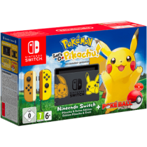 Yellow Nintendo Switch 32GB + Nintendo Switch Poké Ball Plus and Pokemon Let's Go Pikachu! von Amazon DE zum €369.99