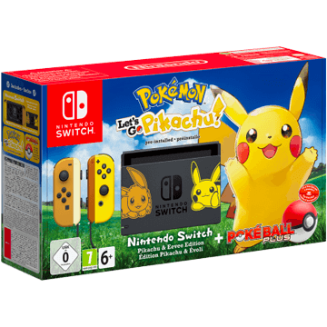 Nintendo Switch Switch + Pokemon Let's Go Pikachu! + Nintendo Switch Poké Ball Plus für nur €389.99